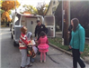Kent Police Officer Handing Out Halloween Candy